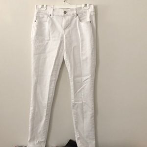 Old Navy Original Mid Rise White Jeans